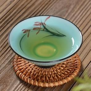 Pure Hand-painted Ceramic Celadon Personal KungFu Tea Single Cup(Orchid)