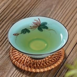 Pure Hand-painted Ceramic Celadon Personal KungFu Tea Single Cup(Chrysanthemum)
