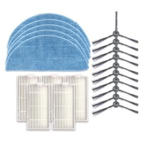 XI240 5 Pairs K614 Side Brushes + 5 PCS I208 Filters+ 5 PCS I201 Rags Set for ILIFE V5S Pro / V50 / V5S