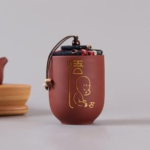 Purple Clay Home Ceramic Tea Pot Puer Tea Box Portable Travel Packaging Sealed Cans with Cover