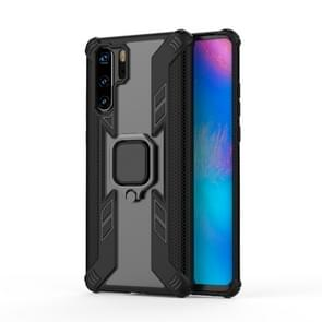 Iron Warrior Shockproof PC + TPU Protective Case for Huawei P30 Pro, with Ring Holder (Black)