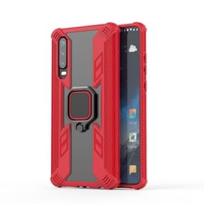 Iron Warrior Shockproof PC + TPU Protective Case for Huawei P30, with Ring Holder (Red)
