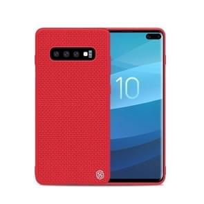 NILLKIN 3D Textured Nylon Fiber TPU Case for Galaxy S10+ (Red)