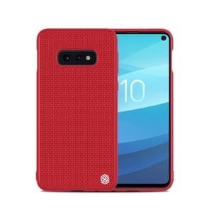 NILLKIN 3D Textured Nylon Fiber TPU Case for Galaxy S10e (Red)
