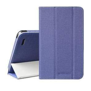 TECLAST Horizontal Flip PU Leather Protective Case for Teclast P80X, with Three-folding Holder (Blue)