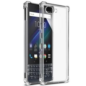 IMAK All-inclusive Shockproof Airbag TPU Case for BlackBerry KEY 2 LE, with Screen Protector (Transparent)