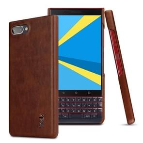 IMAK Ruiyi Series Concise Slim PU + PC Protective Case for BlackBerry KEY 2 LE (Brown)