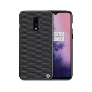 NILLKIN Nylon Fiber 3D Textured TPU Case for OnePlus 7 (Black)