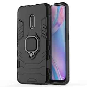 PC + TPU Shockproof Protective Case for OPPO K3 /Realme X, with Magnetic Ring Holder (Black)