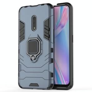 PC + TPU Shockproof Protective Case for OPPO K3 /Realme X, with Magnetic Ring Holder (Grey)