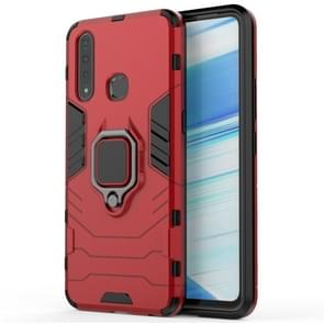 PC + TPU Shockproof Protective Case for Vivo Z5X, with Magnetic Ring Holder (Red)