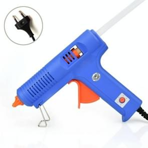 20W DIY Hot Melt Glue Adhesive Stick Industrial Electric Silicone Thermo Gluegun Repair Heat Tools with Switch, EU Plug(Blue)