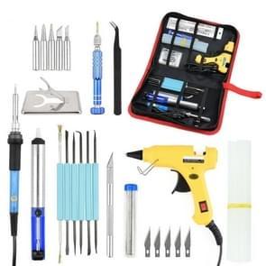 DIY Adjustable Temperature Electric Soldering Iron Welding Screwdriver Glue Repair Carving Knife Repair Tool Kit(Color:Yellow Size:US Plug)