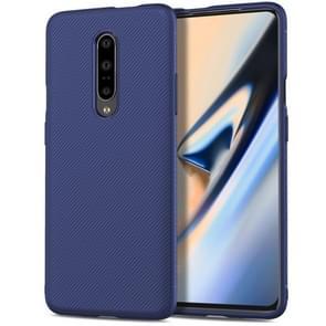Lenuo Leshen Series Stripe Texture TPU Case for OnePlus 7 Pro(Blue)
