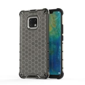 Shockproof Honeycomb PC + TPU Case for Huawei Mate 20 Pro (Black)