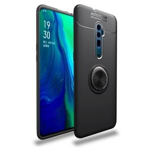 Shockproof TPU Case for OPPO Reno 10x Zoom, with Invisible Holder (Black)
