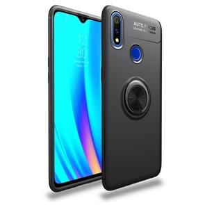 Shockproof TPU Case for OPPO Realme 3 Pro, with Invisible Holder (Black)