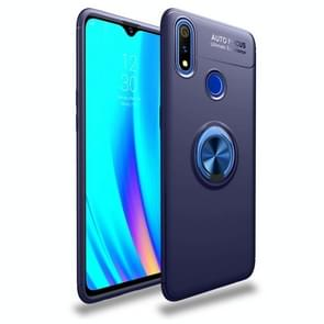Shockproof TPU Case for OPPO Realme 3 Pro, with Invisible Holder (Blue)