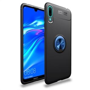 Shockproof TPU Case for Huawei Enjoy 9, with Invisible Holder (Black Blue)