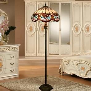 YWXLight Retro Glass Mosaic Lampshade Floor Lamp Living Room Dining Room Bedroom Decoration Light (EU Plug)