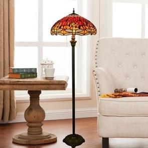 YWXLight Retro Red Enamel Floor Lamp Art Home Gift Hotel Living Room Decoration Lamp (EU Plug)