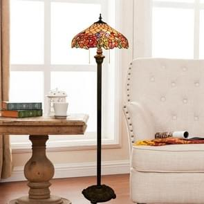 YWXLight Rose Glass Lampshade Floor Lamp Retro Living Room Dining Room Bedroom Bar Club Decoration Lamp (EU Plug)