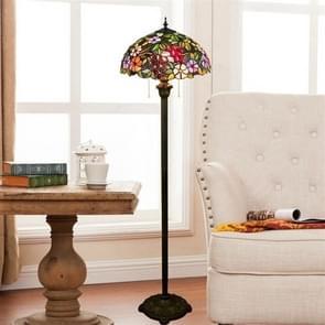 YWXLight Retro Creative Grape Flower Floor Lamp Living Room Dining Room Color Glass Lampshade Decoration Lamp (EU Plug)