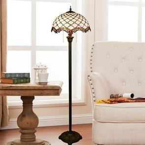 YWXLight Modern Mediterranean Floor Lamp Mosaic Glass Living Room Dining Room Bedroom Decorative Light (EU Plug)
