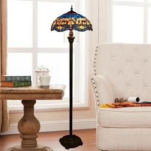 YWXLight Art Creative Stained Glass Tiling Floor Lamp Living Room Dining Room Bedroom Bedside Decorative Light (UK Plug)