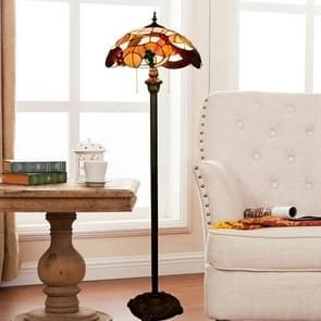 YWXLight Vintage Garden Grape Art Floor Lamp Lighting Creative Stained Glass Lampshade Living Room Dining Room Bedroom Decoration Lamp (EU Plug)