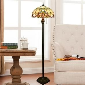 YWXLight Creative Soldering Shape Unique Retro Floor Lamp Color Glass Mosaic Living Room Dining Room Bedroom Decoration Lamp (EU Plug)