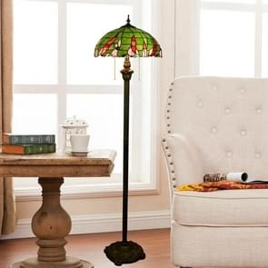 YWXLight Vintage Garden Stained Glass Floor Lamp Living Room Dining Room Bedroom Decoration Lamp (EU Plug)