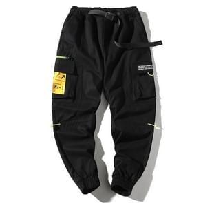 Losse casual zip zakken balken voeten overalls voor mannen (kleur: zwart maat: XXL)