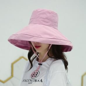 Casual zonneklep visser hoed (roze)