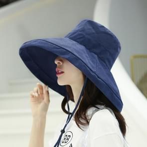 Casual zonneklep visser hoed (marineblauw)