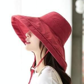 Casual zonneklep visser hoed (wijn rood)