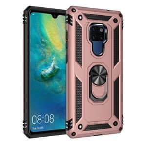 Voor Huawei mate 20 Armor schokbestendig TPU + PC beschermende case met 360 graden rotatie houder (Rose goud)