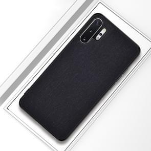Voor Galaxy Note 10 Pro/Note 10 + schokbestendige doek textuur PC + TPU beschermhoes (zwart)