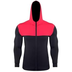 SIGETU mannen casual sport jas (kleur: zwart rood maat: S)