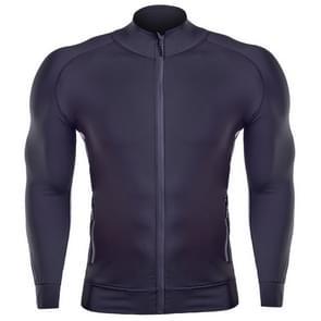 SIGETU mannen casual sport workout jas (kleur: zwart wit maat: S)