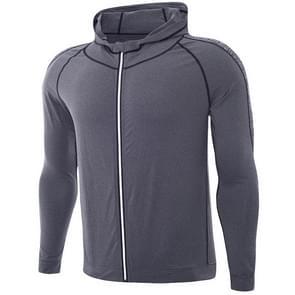 SIGETU heren Quick-dryingCasual sport jas (kleur: grijs maat: L)