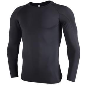 SIGETU heren sneldrogende ademende lange mouwen Sportswear (kleur: zwart maat: S)
