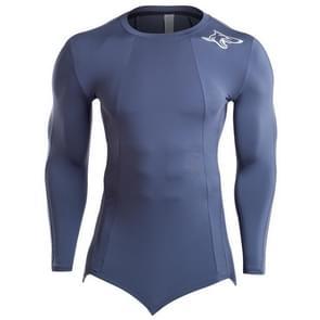 SIGETU heren nauwsluitende sneldrogende sportkleding (kleur: grijs maat: XXL)