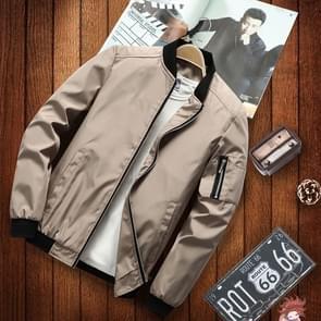 Mannen casual mode jas (kleur: kaki maat: M)
