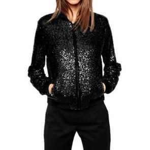 Vrouwen wild casual Sequin jas korte jas (kleur: zwart maat: S)