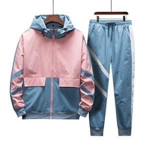 Mannen Hooded casual sport Sweatshirt pak (kleur: roze maat: M)