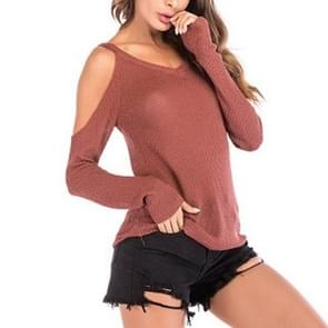 Thin V-neck Slim Fit Sweater (Color:Red Size:M)
