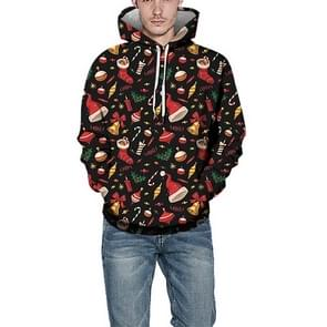 Kerstmannen afgedrukt hoodie (kleur: als Toon grootte: XXL)