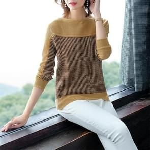Loose Lazy Sweater Fashion Western Shirt(Color:Yellow Size:One Size)