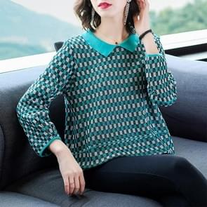 Doll Collar Long-sleeved Sweater (Color:Green Size:M)
